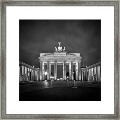 Brandenburg Gate Berlin Black And White Framed Print