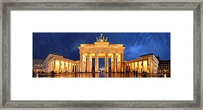 Brandenburg Gate Berlin Panorama Framed Print by Marc Huebner