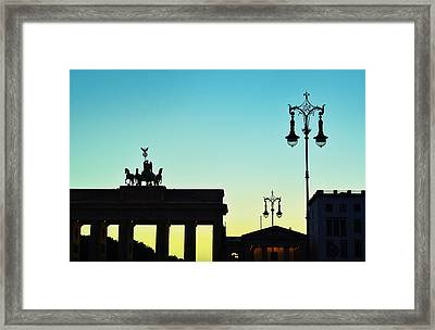 Brandenburg Gate Framed Print by Gynt