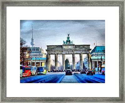Brandenburg Gate Framed Print by Ralph van Och