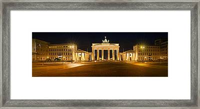Brandenburg Gate Panoramic Framed Print