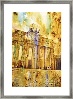 Brandenburg Gate Framed Print by Ryan Fox