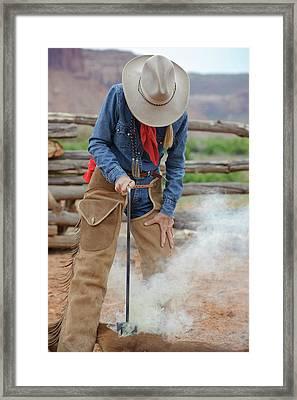 Branding On A Ranch, Next Framed Print