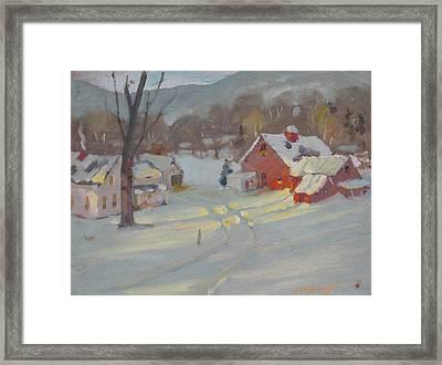 Framed Print featuring the painting Brandon Farm by Len Stomski