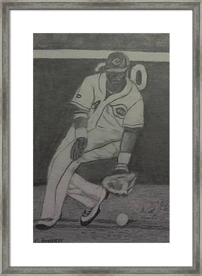 Framed Print featuring the drawing Brandon Phillips by Christy Saunders Church
