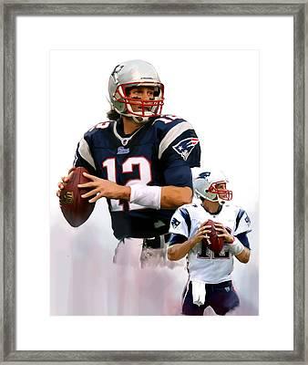 Brady II  Tom Brady Framed Print