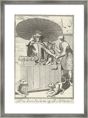 Brandy Seller, Pieter Van Den Berge Framed Print by Pieter Van Den Berge