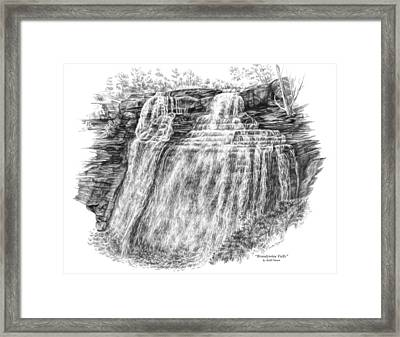 Brandywine Falls - Cuyahoga Valley National Park Framed Print