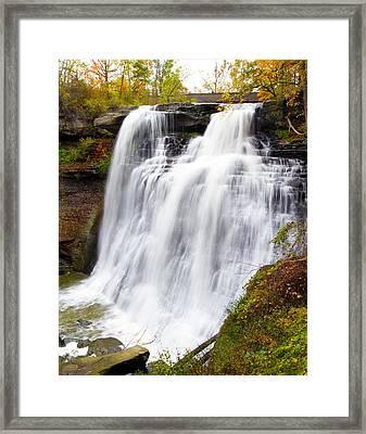 Brandywine Falls Framed Print by David Yunker
