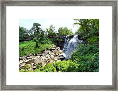 Brandywine Falls Gorge Framed Print