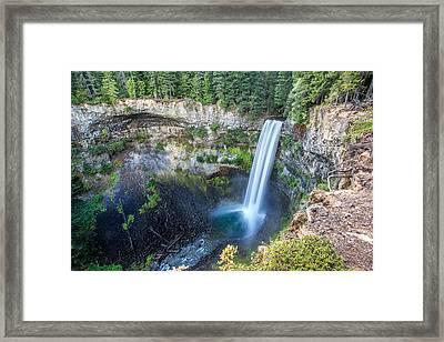 Brandywine Falls In Whistler British Columbia Framed Print