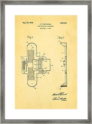 Brannock Shoe Fitting Patent Art 1928 Framed Print by Ian Monk
