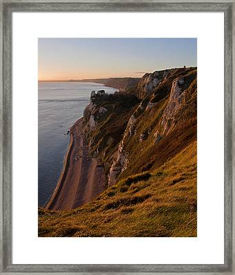 Branscombe Cliffs In Devon Framed Print