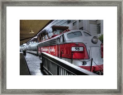 Branson Train Framed Print by Gary Gunderson