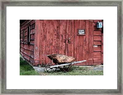 Brant Lake Barn Framed Print