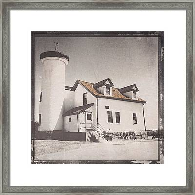 Brant Point Coast Guard Framed Print by Natasha Marco