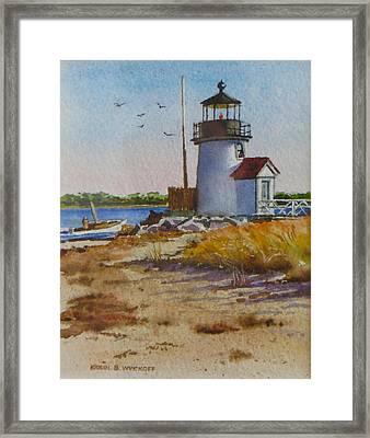 Brant Point Light Nantucket Framed Print by Karol Wyckoff