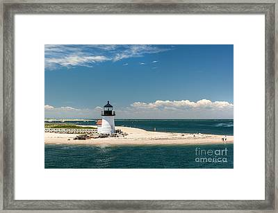 Brant Point Light Nantucket Framed Print by Michelle Wiarda