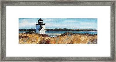 Brant Point Light Framed Print