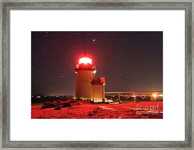 Brant Point Lighthouse Framed Print by Chris Cook