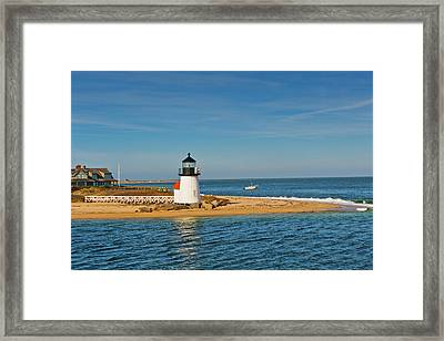 Brant Point Lighthouse Nantucket Framed Print by Marianne Campolongo