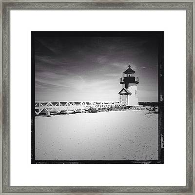 Brant Point Lighthouse Framed Print by Natasha Marco