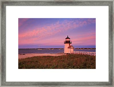 Brant Point Lighthouse Sunset Framed Print by Katherine Gendreau