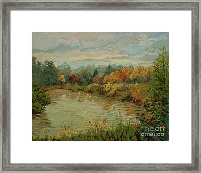 Branta Pond  Framed Print by Monica Caballero