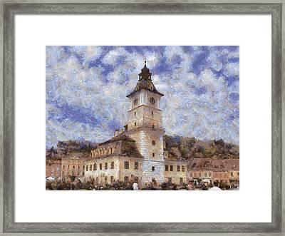 Brasov City Hall Framed Print by Jeff Kolker