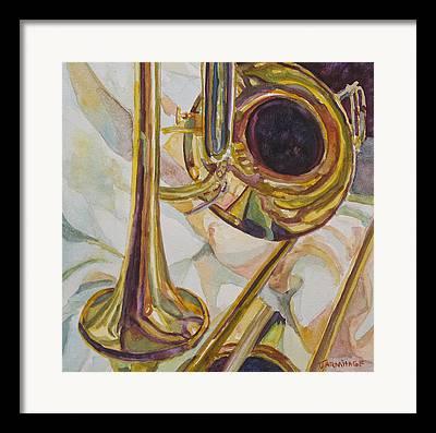 Gold Cloth Framed Prints