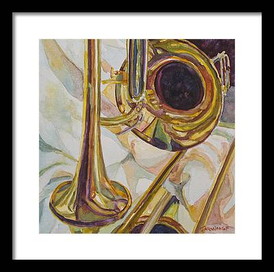 Trombone Framed Prints