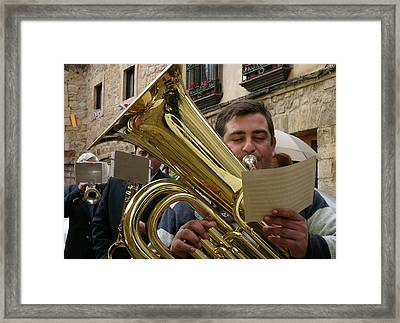 Brass Band-trombone Framed Print