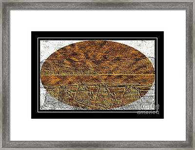 Brass Etching - Oval - Lobster Pots Framed Print by Barbara Griffin