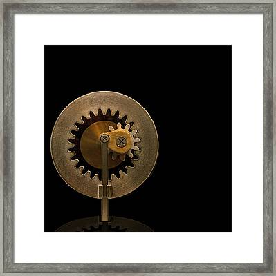 Brass Gears Framed Print