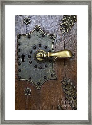 Brass Handle Framed Print