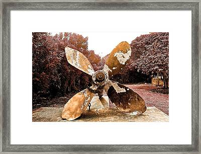Brass Propeller Framed Print by Kimberly Reeves