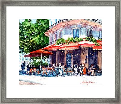 Brasserie Isle St. Louis Framed Print