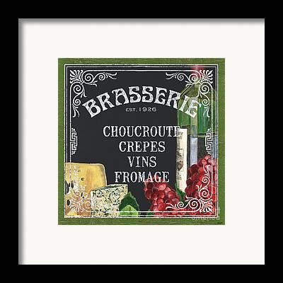 French Cafe Framed Prints