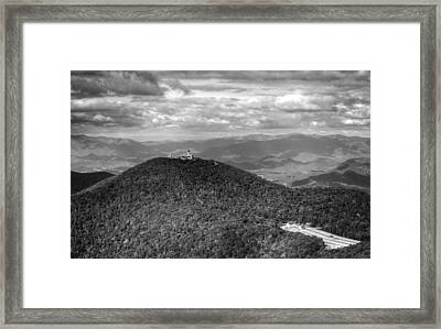 Brasstown Bald In Black And White Framed Print
