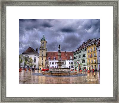 Bratislava Old Town Hall Framed Print by Juli Scalzi