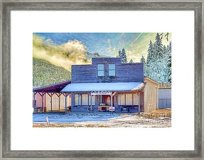 Brauer Real Estate Linwood Kansas Framed Print by Liane Wright