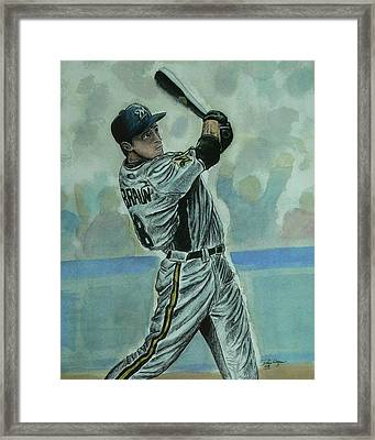 Framed Print featuring the painting Braun by Dan Wagner