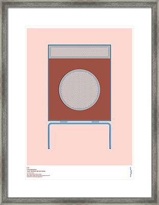 Braun L2 Loudspeaker - Dieter Rams Framed Print by Peter Cassidy