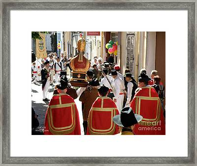 Bravade Saint Clement Procession Framed Print by Lainie Wrightson