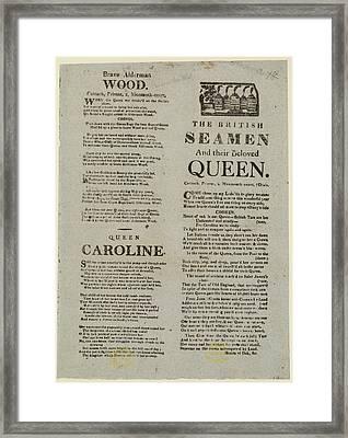 Brave Alderman Wood Framed Print by British Library