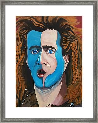Brave Heart  Mel Gibson Framed Print