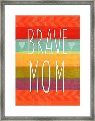 Brave Mom - Colorful Greeting Card Framed Print
