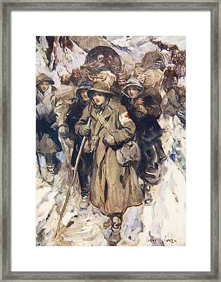 Brave Nurses In The Retreat Framed Print by Cyrus Cuneo