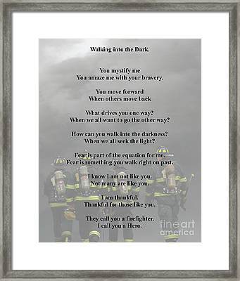 Brave Poem Framed Print