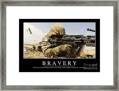 Bravery Inspirational Quote Framed Print by Stocktrek Images